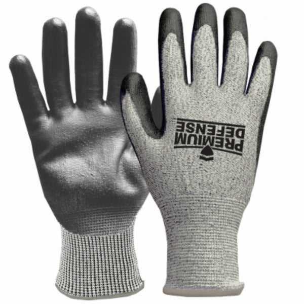 Premium Defense 7009-26 Men's Cut Resistant Glove, Gray, Extra-Large