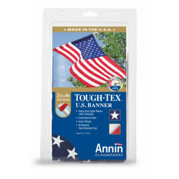 Annin Flagmakers 605003 Polyester Tough Tex US Banner, 2.5' x 4'