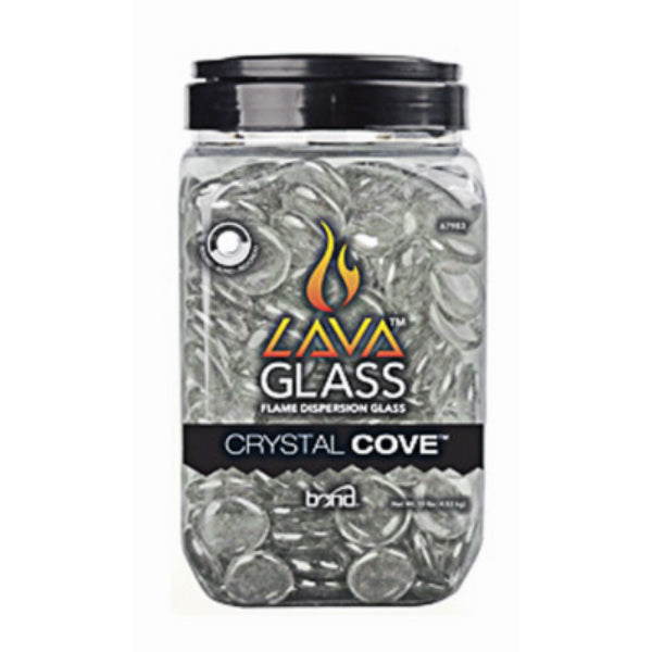 Bond 67983 LavaGlass Round Flame Dispersion Glass, Crystal Cove, 10 Lbs