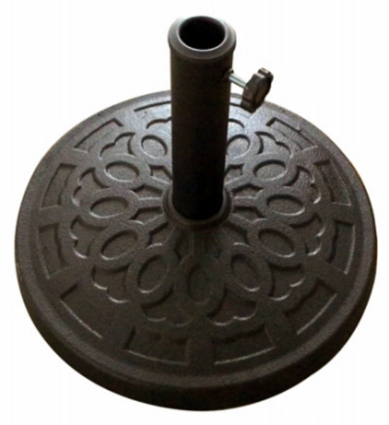 "Four Seasons Courtyard 852006 Composite Umbrella Base, Black, 18"" Diameter"
