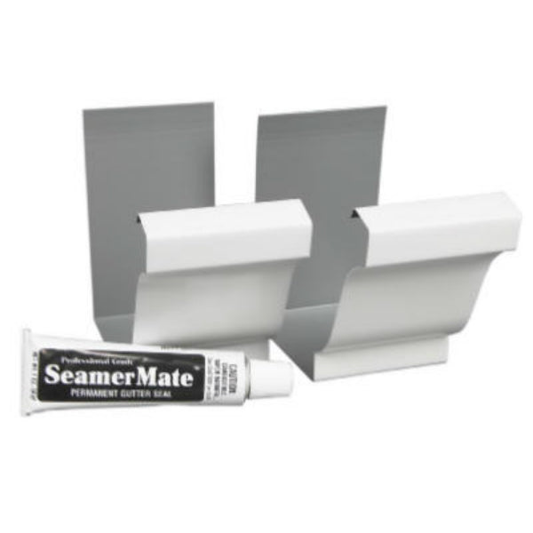 Amerimax 33008 Aluminum Seamer with 1 Oz SeamerMate, White, 2-Pack