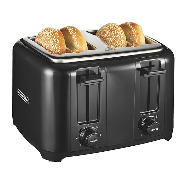 Proctor Silex 24215 Durable 4-Slice Toaster with Wide Slots, Black