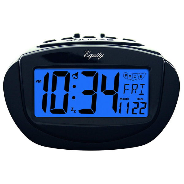 Equity 31022 Insta-Set Digital Alarm Clock with Blue Backlight