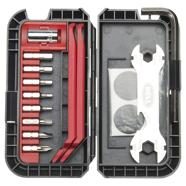 Bell 7090914 Roadside 600 Bike Tool & Patch Compact Kit, 28-Piece