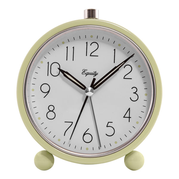 Equity 20090 Analog Quartz Alarm Clock with 5-Min Snooze