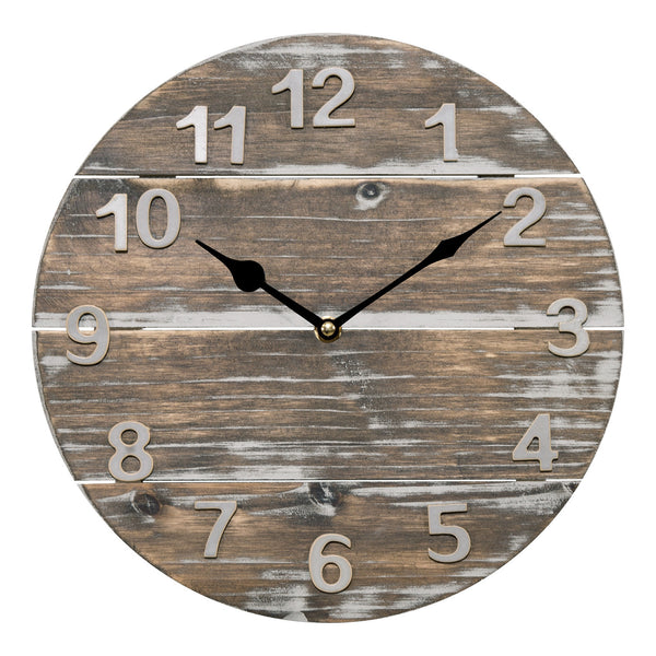 La Crosse 404-3430W Analog Wood Panel Wall Clock, 12""