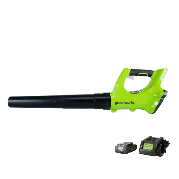 Greenworks 2400702 Cordless Sweeper with 100-MPH Wind Speed, 330 CFM, 24 Volts