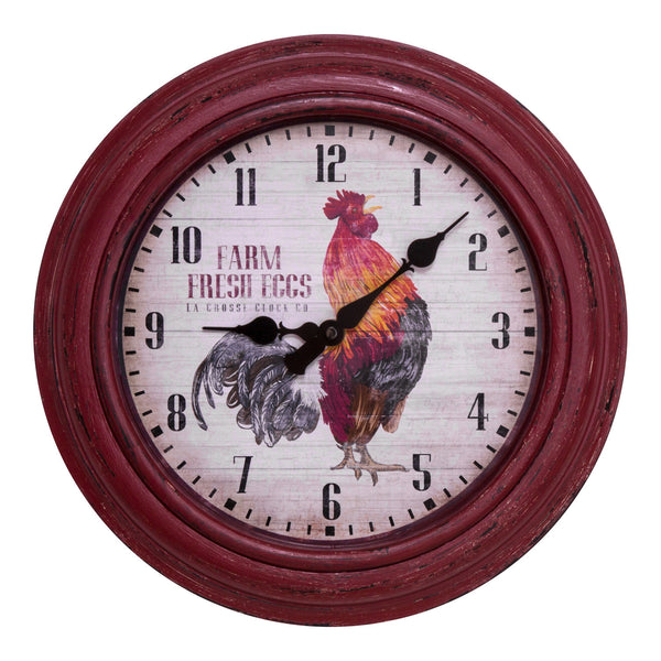 "La Crosse 404-3630 Wall Clock with 12"" Round Case"