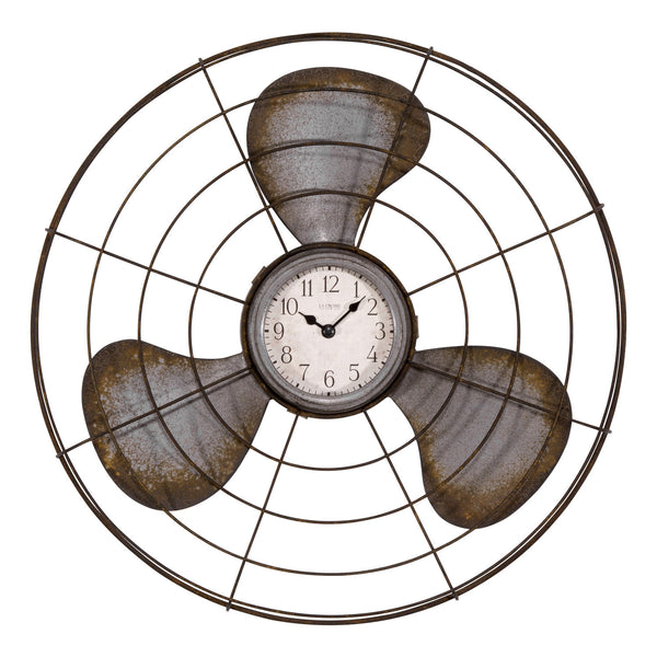 La Crosse 404-3942 Decorative Analog Fan Wall Clock, 16.5""