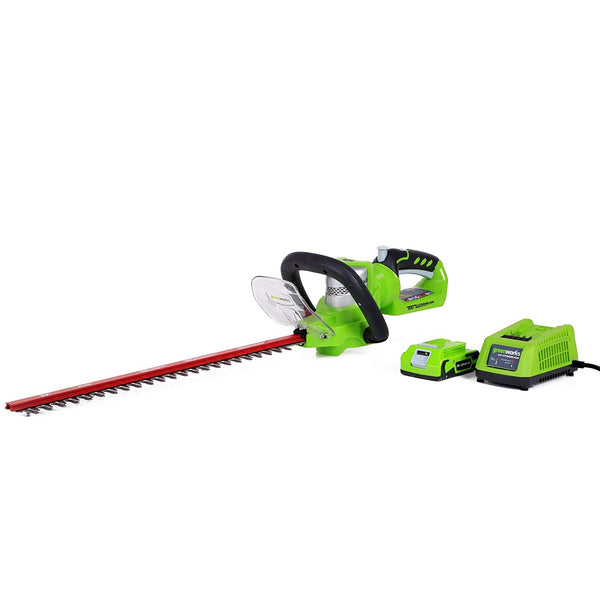 "Greenworks 22232 Cordless Hedge Trimmer w/ 5/8"" Cutting Capacity, 24 Volts, 22"""