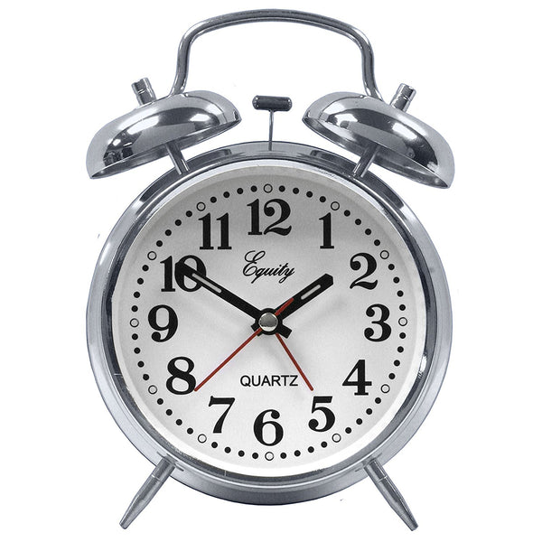 Equity 13014 Analog Quartz Alarm Clock with Twin Bell Alarm