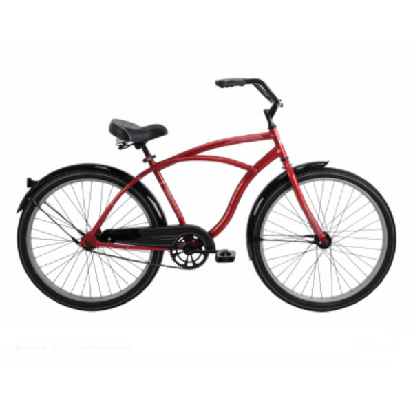 Huffy 26629 Good Vibrations Men's Cruiser Bike, Brick Red, 26""