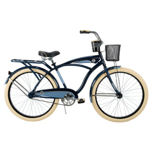 Huffy 26649 Deluxe Mens Cruiser Bike, Midnight Blue, 26""