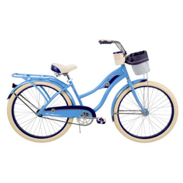 Huffy 26659 Deluxe Ladies Cruiser Bike, Gloss Periwinkle, 26""