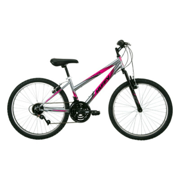 Huffy 24339 Girls' 15-Speed Incline Bike, Gloss Gunmetal, 24""