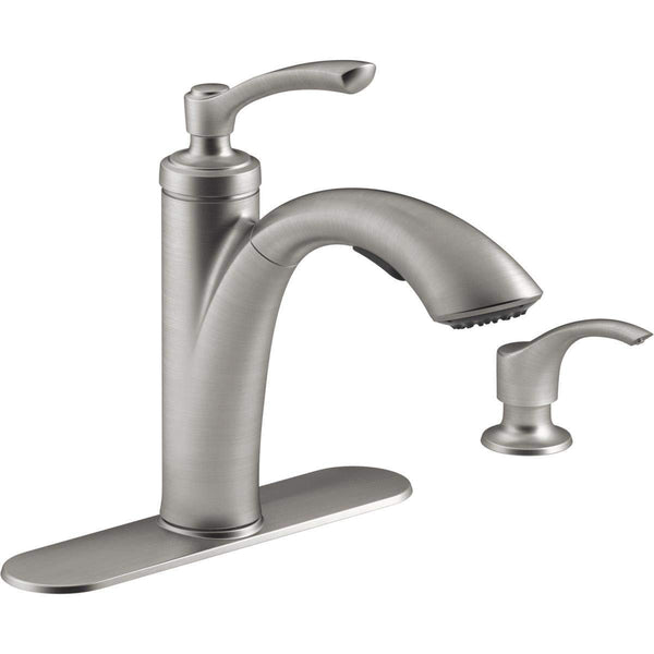 Kohler R29670-SD-VS Linwood Pull-Out Kitchen Faucet w/Lotion Dispenser, St-Steel