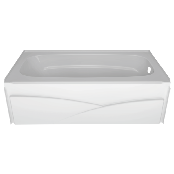 "Delta B10311-6032R-WH High Gloss White Right Drain Bathtub, 60"" x 32"""
