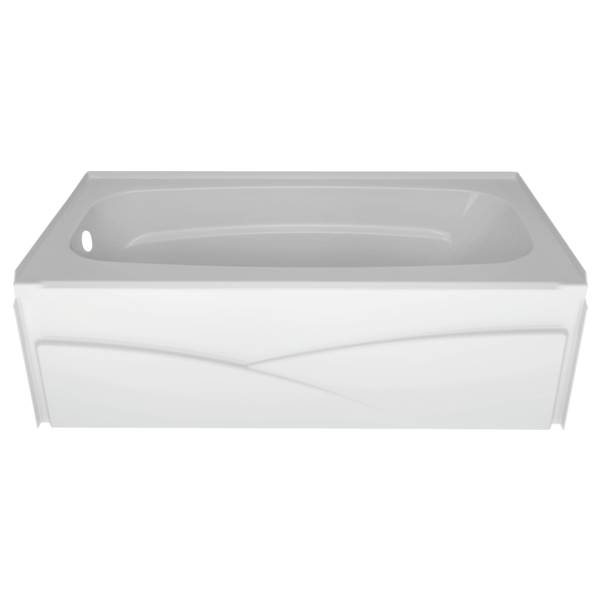 "Delta B10311-6032L-WH High Gloss White Left Drain Bathtub, 60"" x 32"""