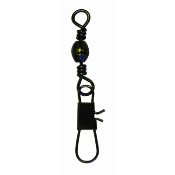 Eagle Claw 0848-2155 Barrell Swivel with Interlock Snap, Black, Size 3, 3-Pack