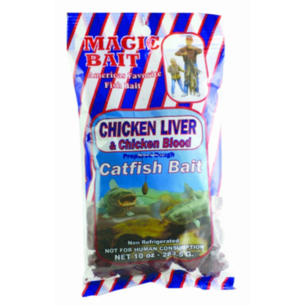 Magic Bait 0133-0053 Chicken Liver & Chicken Blood Catfish Bait, 42-12, 10 Oz