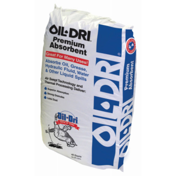 Oil-Dri I05040-G50 Premium Absorbent with Air Swept Technology, 40 Qt