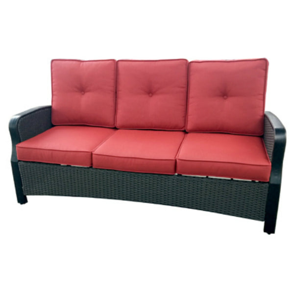 Four Seasons Courtyard HJ-G-1512 Siesta Key Sofa with Red Cushions
