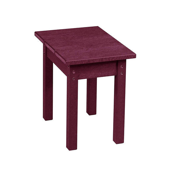 Captiva TX01-31 Plastic Rectangular Table, Bordeaux, Small