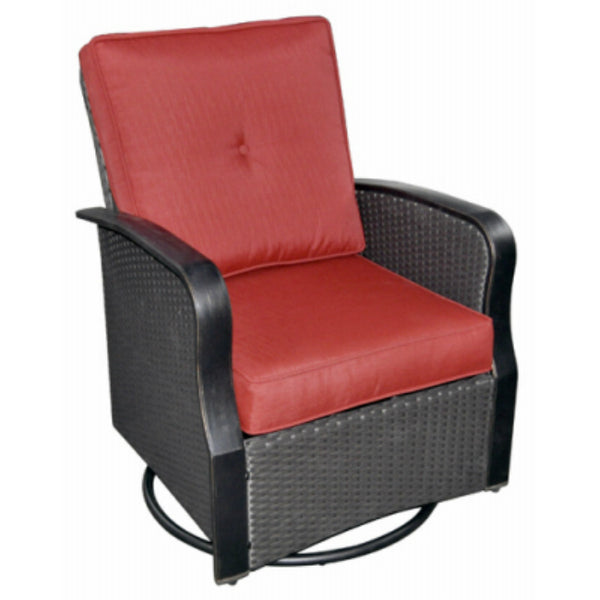 Four Seasons HJ-G-1511 Siesta Key Lounge Chair Set w/ Red Cushions, 2-Pack