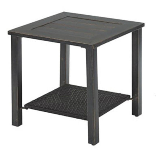 Four Seasons Courtyard HJ-1548-1 Siesta Key End Table with Steel Frame