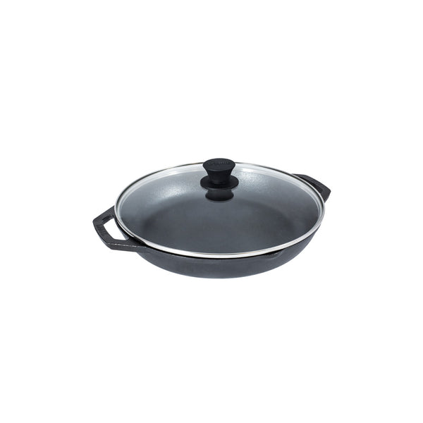 Lodge L10CPGL Everyday Pan with Tempered Glass Lid, 12""