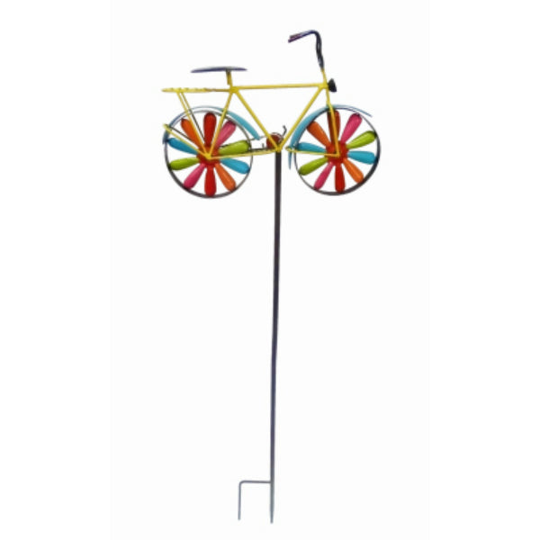 Alpine JUM134-201 Bicycle Wind Spinner Garden Stake, Iron