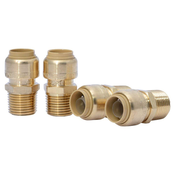 "SharkBite U120LFA4 Push-To-Connect Male Connectors, 1/2"" x 1/2"", 4-Pack"