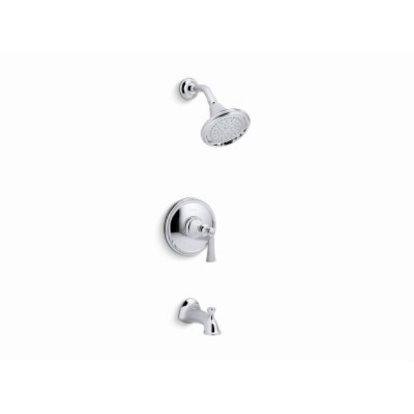 Kohler R72783-4E-CP Elliston Bath & Shower Faucet w/ Showerhead, Polished Chrome