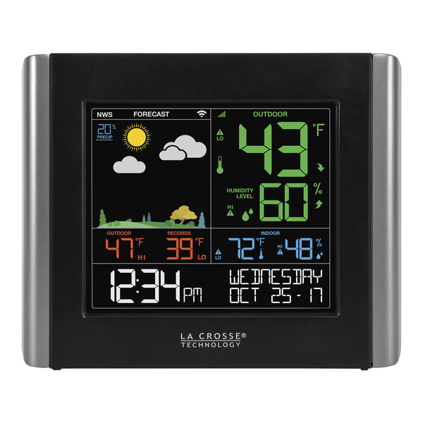 La Crosse V10-TH Remote Monitoring Color Weather Station