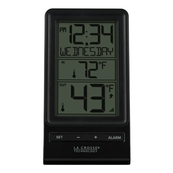 La Crosse 308-1415BW Wireless Thermometer w/ 12/24 Hour Time Display