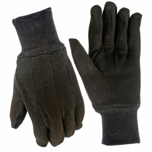 True Grip 98432-06 Men's Brown Cotton Jersey Gloves, Large, 6-Pack