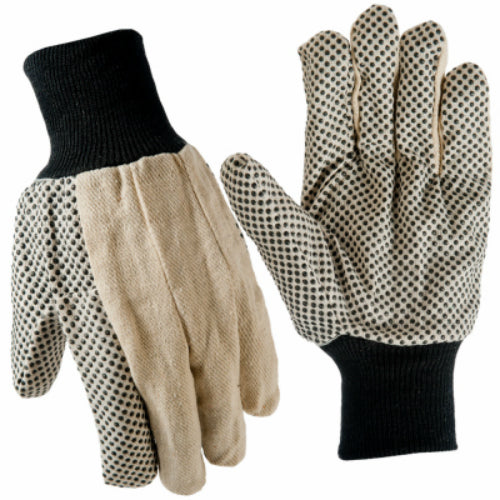 True Grip 91633-09 Men's Dotted Cotton Canvas Glove, Large, 3-Pack