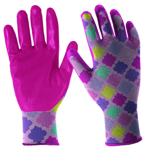 Digz 7662-26 Girl's Latex-Free Nitrile Dipped Garden Glove, Youth