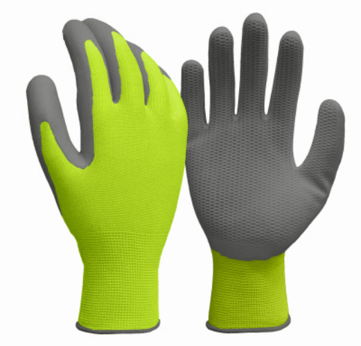 True Grip 98821-26 Men's Hi-Viz Yellow Honeycomb Pattern Glove, Medium