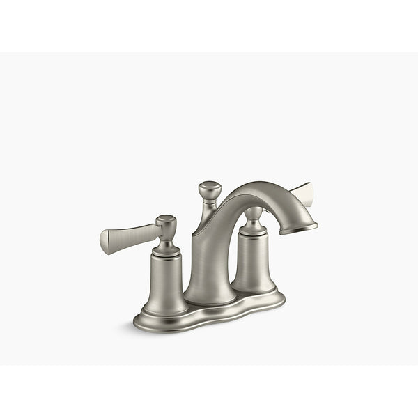 Kohler R72780-4D1-BN Centerset Bathroom Sink Faucet, Brushed Nickel, 1.2 GPM
