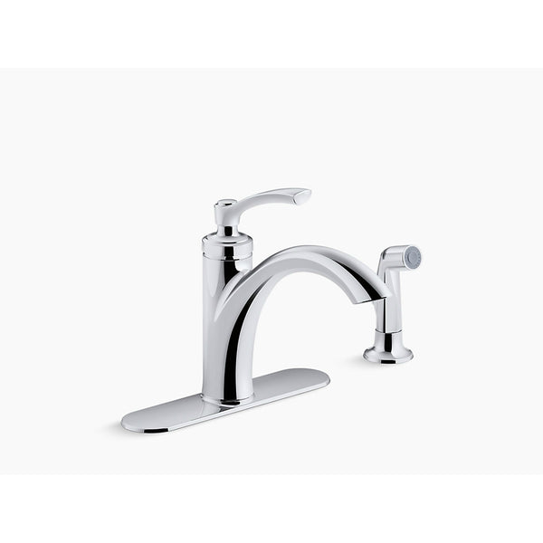 Kohler R29669-CP Linwood Kitchen Faucet with Sidespray, Polished Chrome