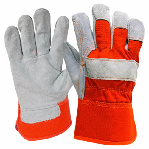 True Grip 9133-26 Men's Double Leather Palm Glove, Large