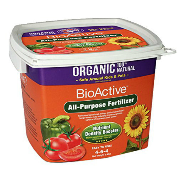 Purple Cow Organics PC-BIOACTIVE-FERTILIZER All-Purpose Fertilizer, 2 Qt