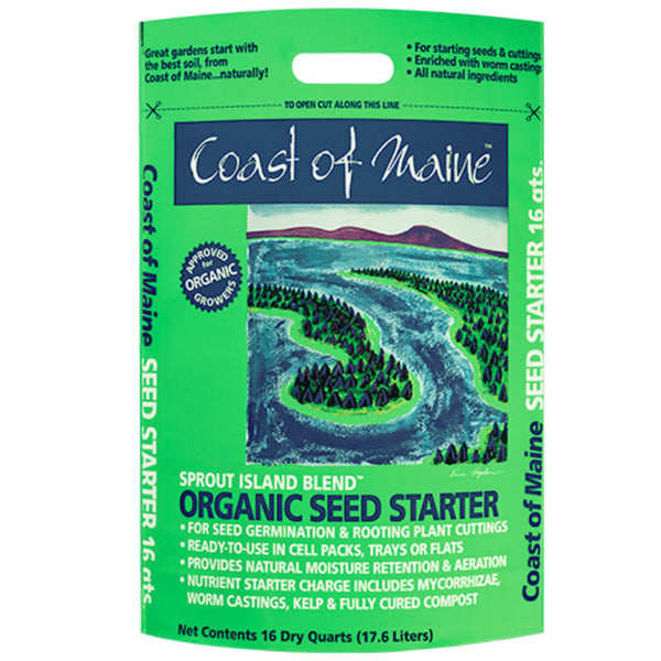 Coast Of Maine 1SSI16 Sprout Island Organic Seed Starter, 16 Qt