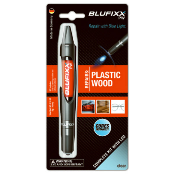 Blufixx US-10-121-0000 LED Repair Gel Pen for Plastic & Wood, Clear