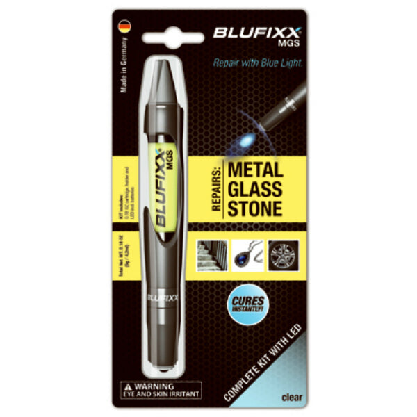 Blufixx US-10-111-0000 LED Repair Gel Pen for Metal / Glass / Stone, Clear