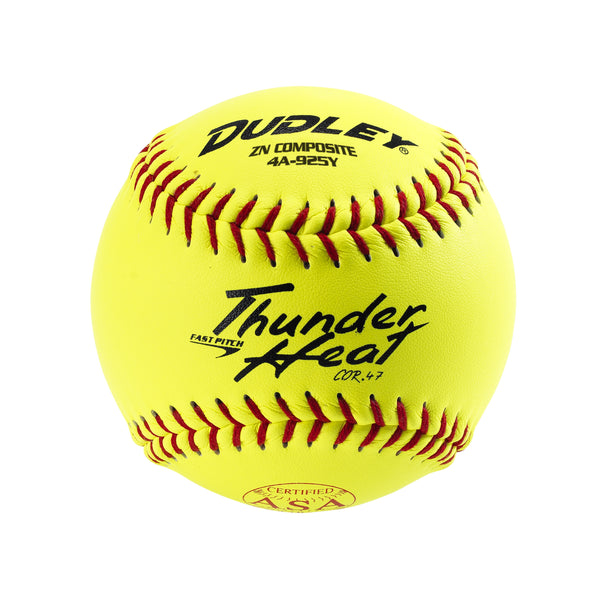 Dudley 4A144R6 ASA Thunder Heat Polycore Fastpitch Softball, 11""
