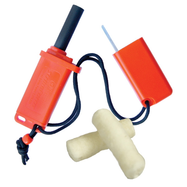 UST 20-12147 StrikeForce Fire Starter with Tinder, Orange
