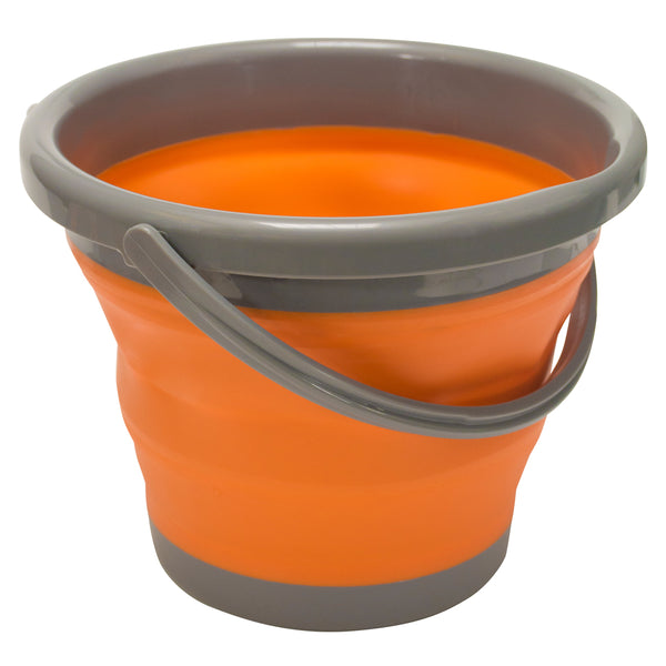 UST 20-02078-08 Flexware Collapsible Orange Bucket, 5 liter
