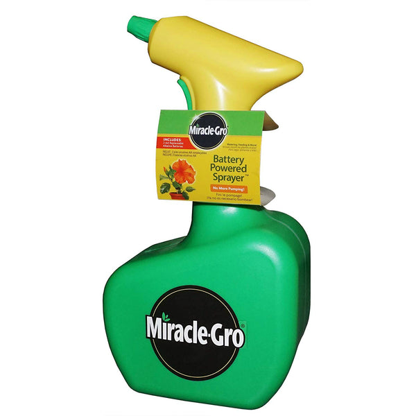 Miracle-Gro 190518 Battery Powered Sprayer with 2-AA Alkaline Batteries